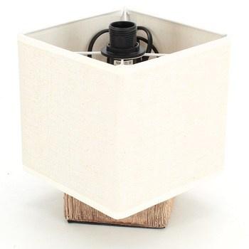 Designová lampička Wanda dřevo a textil