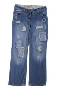 Dámské džíny Next modré s dírami