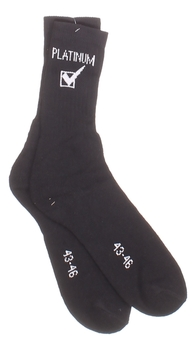 Pánské ponožky s nápisem Platinum černé