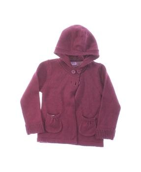 Dívčí kabátek F&F fialový s kapucí