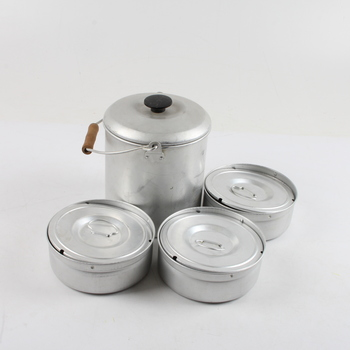 Přenosné misky na jídlo hliníkové 3 + 1