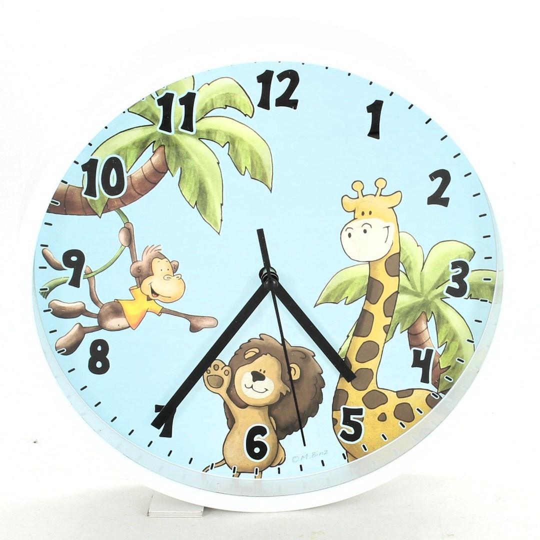 Nástěnné hodiny Hama potisk safari
