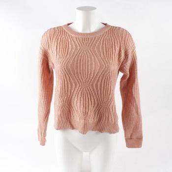 Dámský pletený svetr béžové barvy 098248639d