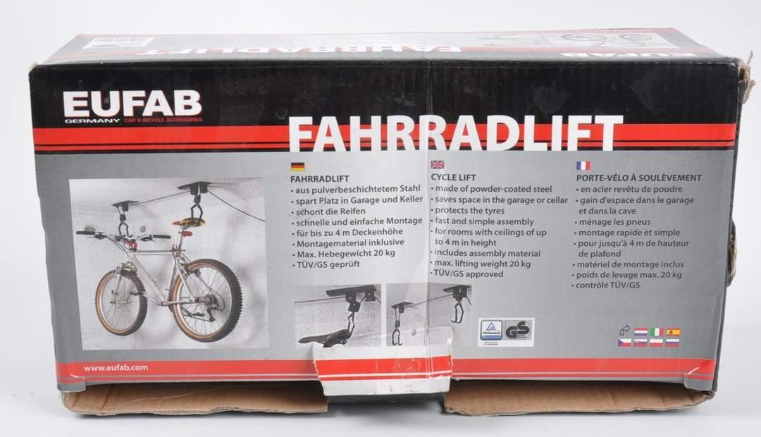 Závěsný držák na kola na strop Eufab