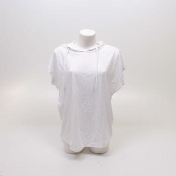 Dámské tričko Urban Classics s kapucí bílé