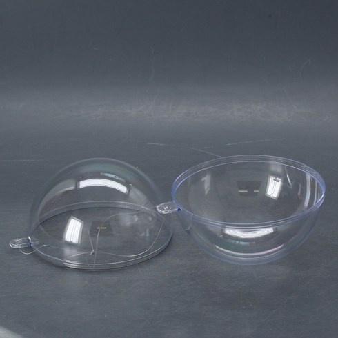 Dekorační plastová koule Glorex půlená