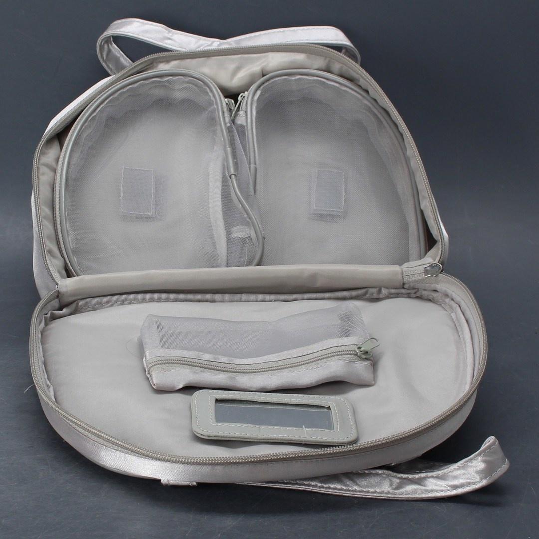 Dámská kabelka stříbrná do ruky
