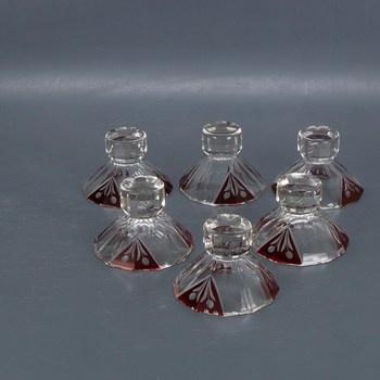Skleněné likérové skleničky, 6 ks