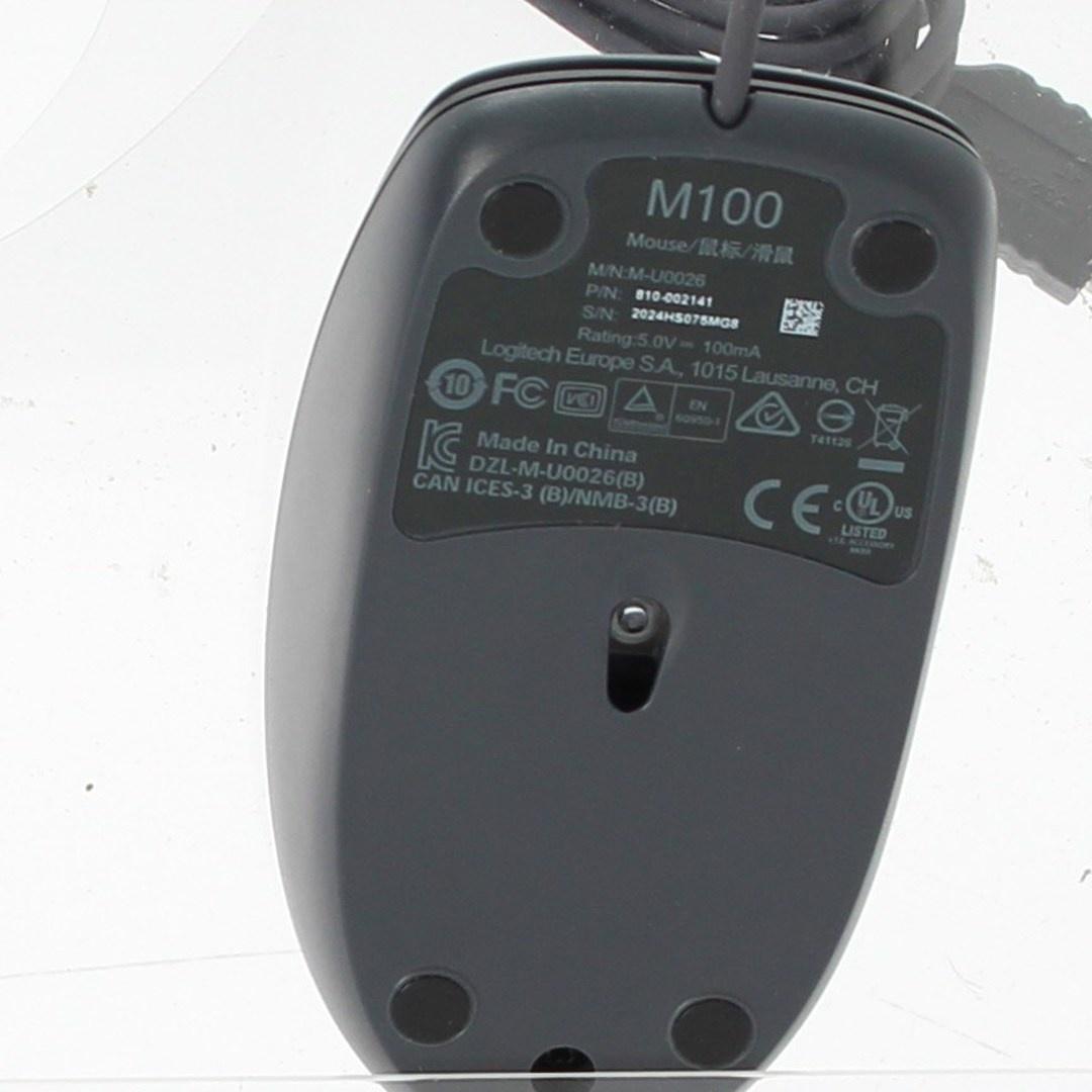 Optická myš Logitech m100 černá