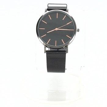 Pánské hodinky černé se zlatým