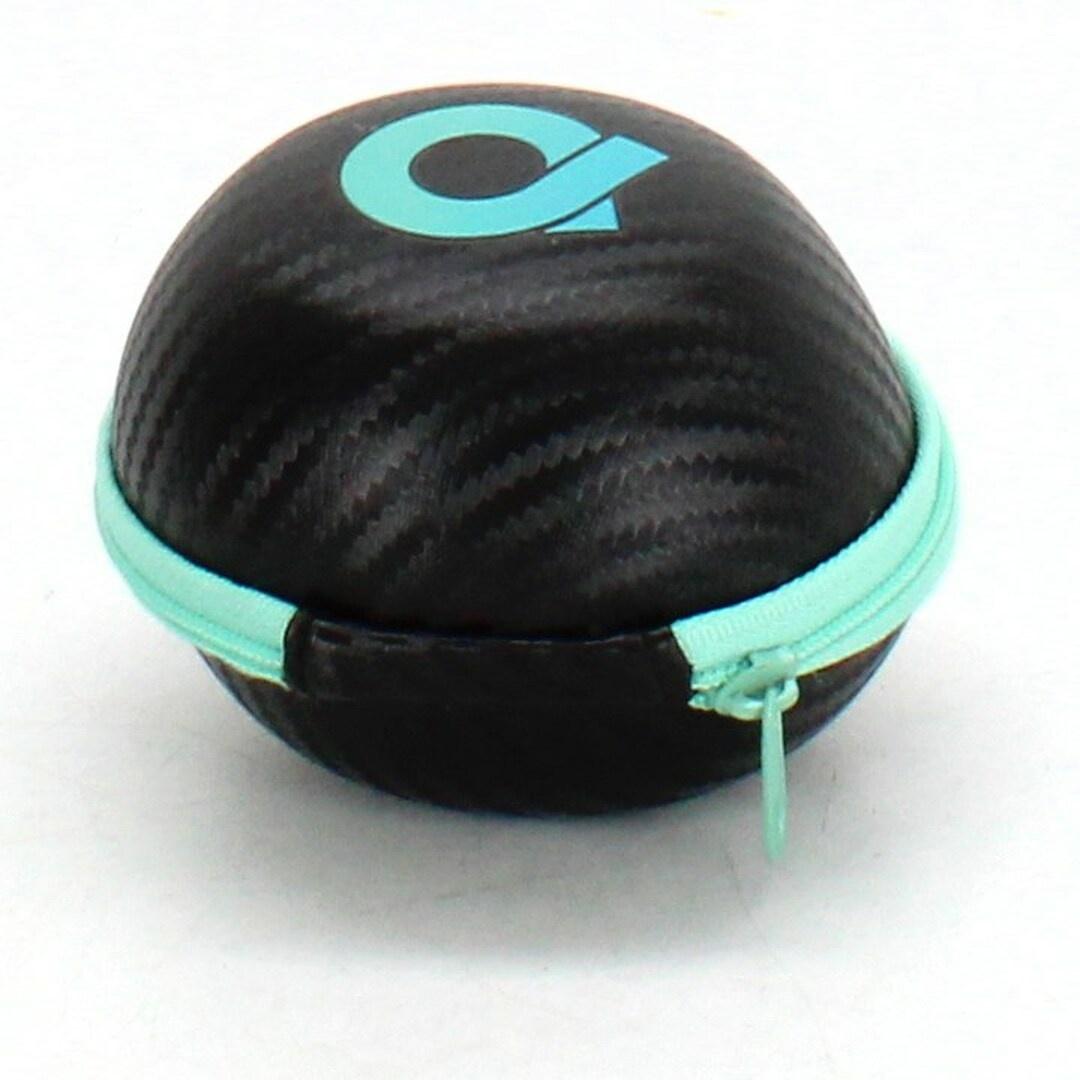 Pouzdro na sluchátka, černé, tyrkysové