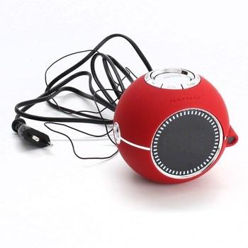 Radiobudík Naf Naf Clockine V2 červený