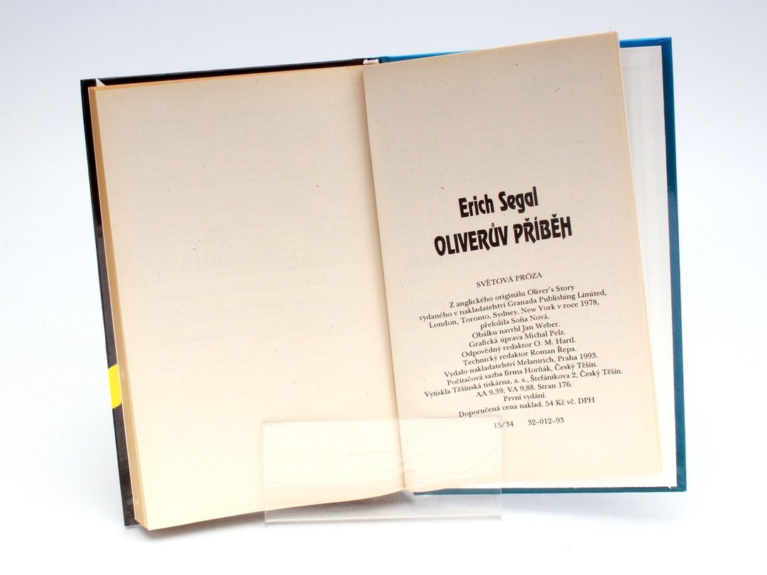 Knihy Erich Segal: Oliverův příběh