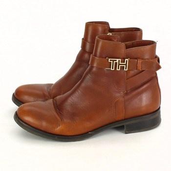 Dámské kotníčkové boty Tommy Hilfiger hnědé
