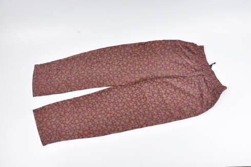 Dámské kalhoty červené pružné v pase