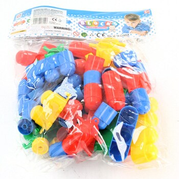Plastové kostky Blocks barevné