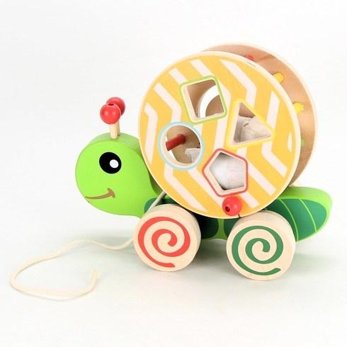 Dřevěná tahací hračka šnek Eichhorn
