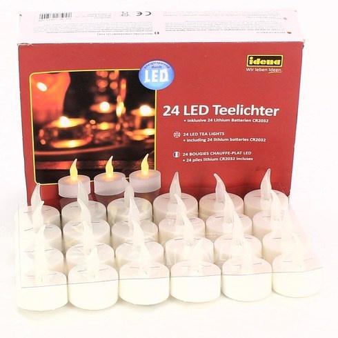 Čajové LED dekorační svíčky Idena 50023 24ks
