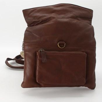 Kožená kabelka Catwalk 5060167684685 hnědá