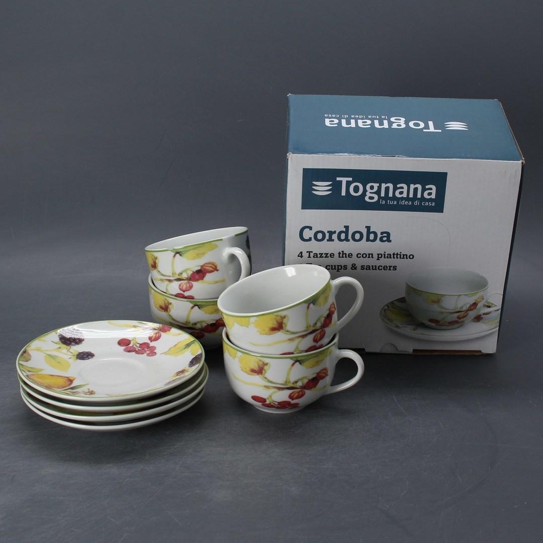 Sada hrnků s podšálky Tognana Cordoba