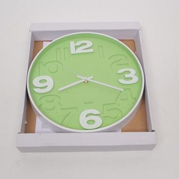 Nástěnné hodiny QUARTZ zelené