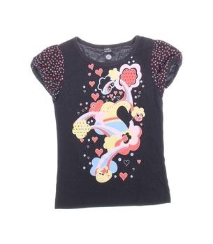 Dívčí tričko GATE černé s barevným potiskem