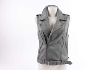 Dámská vesta Amisu na zip šedá