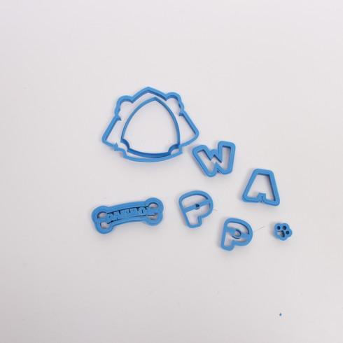 Vykrajovátka plastová modrá 11ks