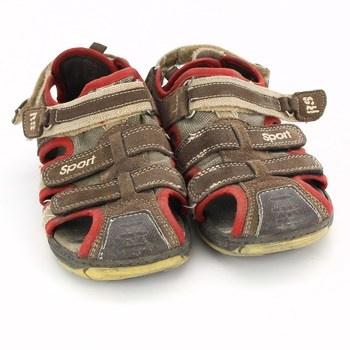 Dětské sandále Runstone hnědé