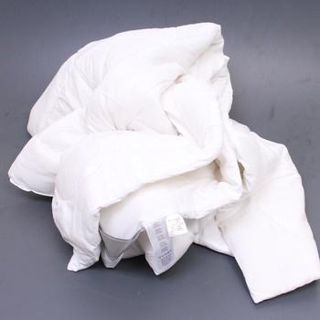 Přikrývka Bedsure 200 x 200 cm bílá
