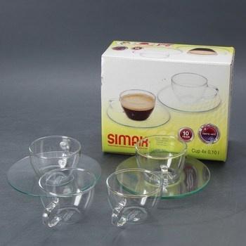 Sada skleněných šálků Simax 2v1