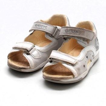 Dívčí kožené sandálky Geox Baby