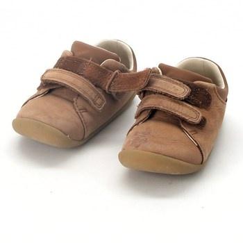 Dětské boty kotníkové Clarks hnědé
