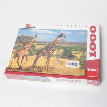 Puzzle DINO Dvě žirafy 1000 dílků