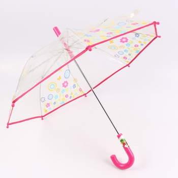 Deštník holový dětský s květinovým vzorem