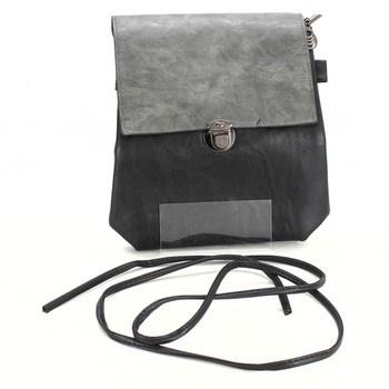 Dámská kabelka šedočerná na zapínání