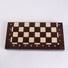 Šachovnicový set dřevěný hnědý