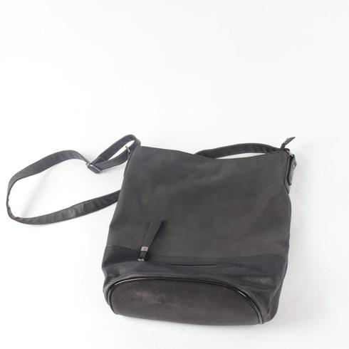 Dámská pytlová kabelka přes rameno černá - bazar  88e27a7c34