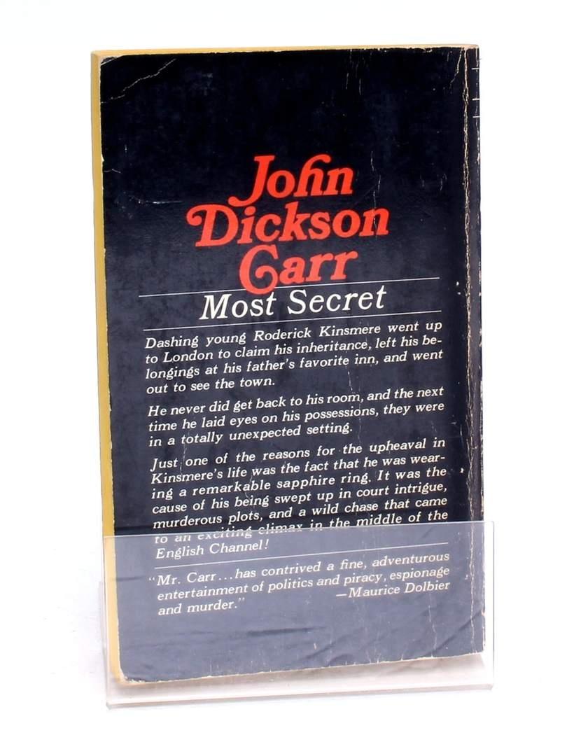 Kniha Most Secret John Dickson Carr