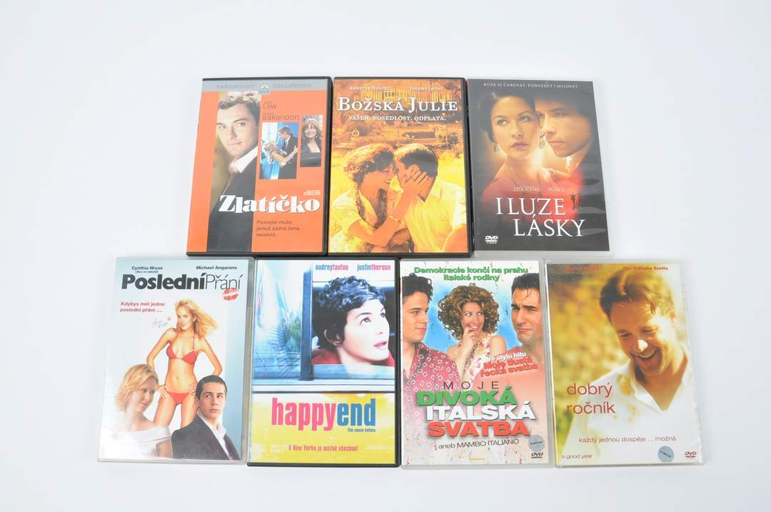 DVD - Happy end, Iluze lásky, Dobrý ročník a další