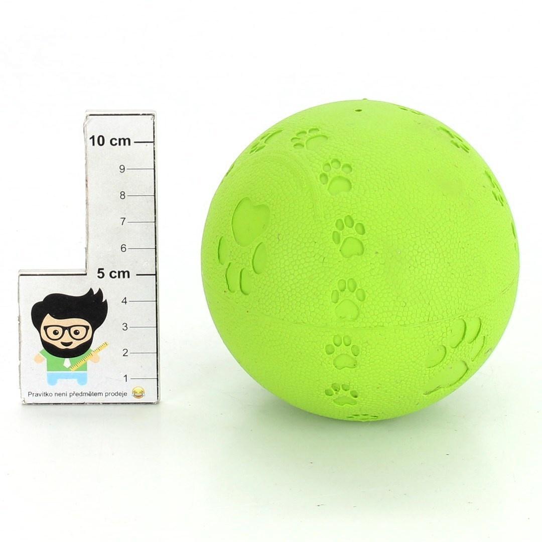 Gumový míček pro psy zelený