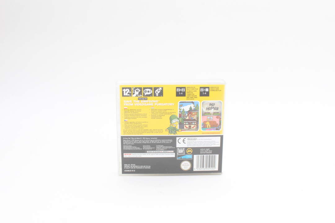 Hra na Nintendo DS - The Simpsons Game.