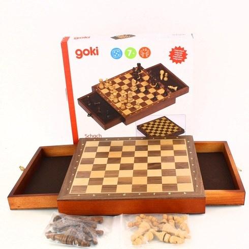 Dřevěné magnetické šachy Goki 56919