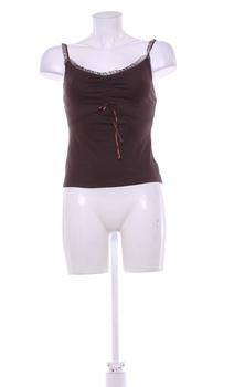 Dámský pyžamový top Viola hnědý