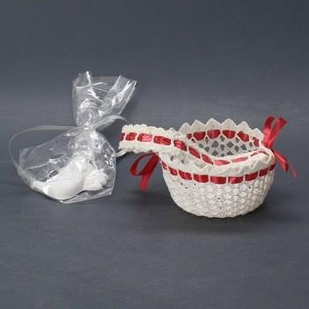 Dekorační předměty - košíček a anděl