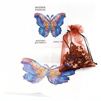 Dřevěné puzzle Yoofun mz-4 motýl