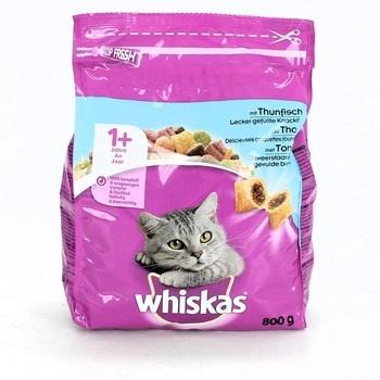 Granule pro kočky Whiskas tuňák 5x800g 1+