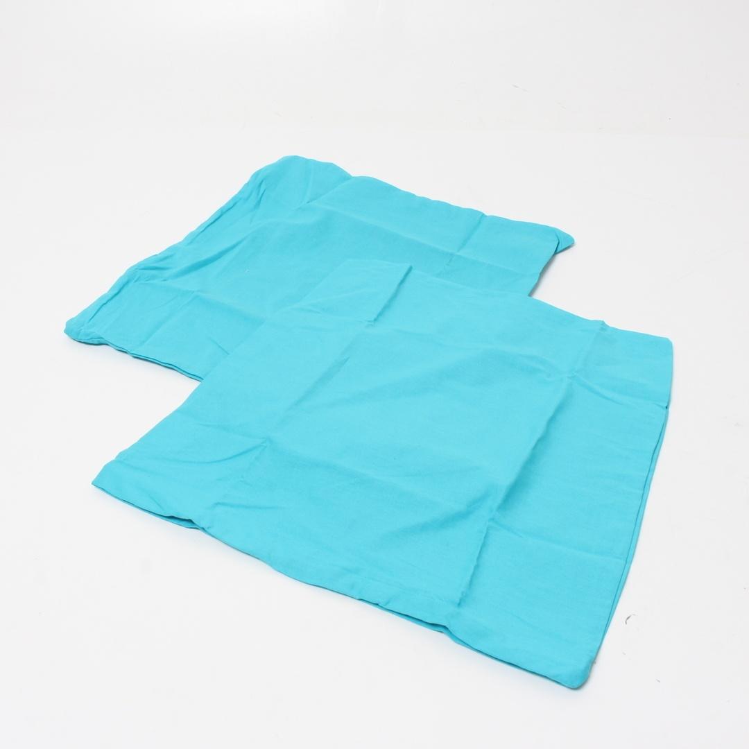 Modré povlaky na polštáře 2 kusy