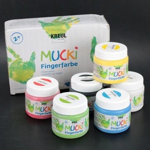 Prstové barvy Kreul Mucki