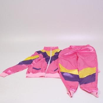 Dámský kostým Smiffys 80. léta růžový